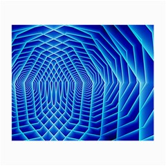 Blue Background Light Glow Abstract Art Small Glasses Cloth