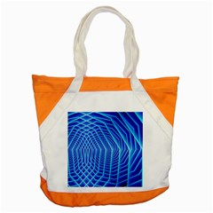 Blue Background Light Glow Abstract Art Accent Tote Bag