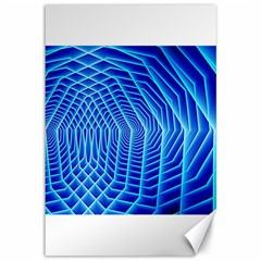Blue Background Light Glow Abstract Art Canvas 12  X 18