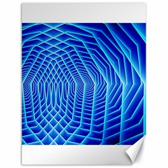 Blue Background Light Glow Abstract Art Canvas 18  X 24