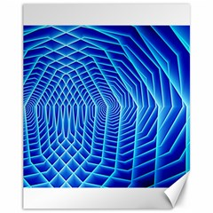 Blue Background Light Glow Abstract Art Canvas 11  X 14