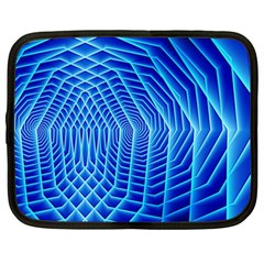 Blue Background Light Glow Abstract Art Netbook Case (xxl)