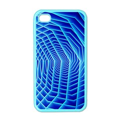 Blue Background Light Glow Abstract Art Apple Iphone 4 Case (color)