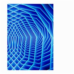 Blue Background Light Glow Abstract Art Small Garden Flag (two Sides)