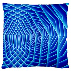 Blue Background Light Glow Abstract Art Large Cushion Case (one Side)