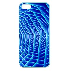 Blue Background Light Glow Abstract Art Apple Seamless Iphone 5 Case (color)