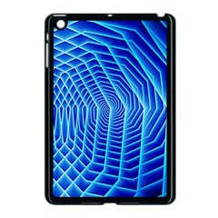 Blue Background Light Glow Abstract Art Apple Ipad Mini Case (black) by Nexatart