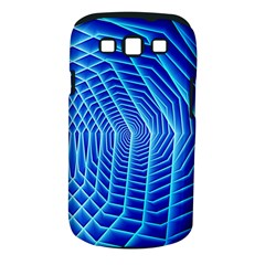 Blue Background Light Glow Abstract Art Samsung Galaxy S Iii Classic Hardshell Case (pc+silicone)