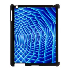 Blue Background Light Glow Abstract Art Apple Ipad 3/4 Case (black)