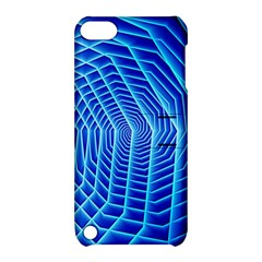 Blue Background Light Glow Abstract Art Apple Ipod Touch 5 Hardshell Case With Stand