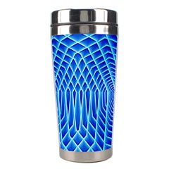 Blue Background Light Glow Abstract Art Stainless Steel Travel Tumblers