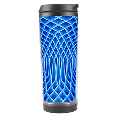 Blue Background Light Glow Abstract Art Travel Tumbler