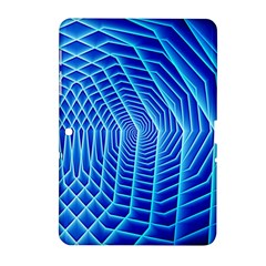 Blue Background Light Glow Abstract Art Samsung Galaxy Tab 2 (10 1 ) P5100 Hardshell Case