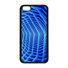 Blue Background Light Glow Abstract Art Apple Iphone 5c Seamless Case (black)