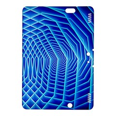Blue Background Light Glow Abstract Art Kindle Fire Hdx 8 9  Hardshell Case