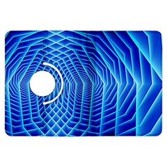 Blue Background Light Glow Abstract Art Kindle Fire Hdx Flip 360 Case by Nexatart