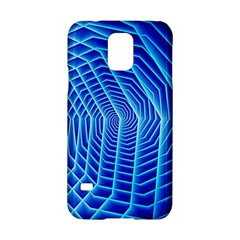 Blue Background Light Glow Abstract Art Samsung Galaxy S5 Hardshell Case