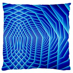 Blue Background Light Glow Abstract Art Standard Flano Cushion Case (two Sides)