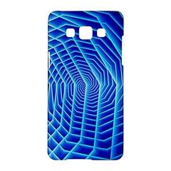 Blue Background Light Glow Abstract Art Samsung Galaxy A5 Hardshell Case