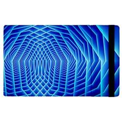 Blue Background Light Glow Abstract Art Apple Ipad Pro 9 7   Flip Case