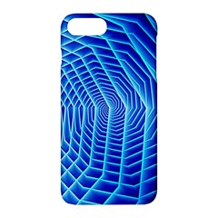 Blue Background Light Glow Abstract Art Apple Iphone 7 Plus Hardshell Case