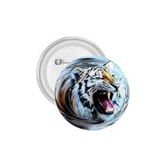 Tiger Animal Art Swirl Decorative 1 75  Buttons
