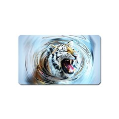 Tiger Animal Art Swirl Decorative Magnet (name Card) by Nexatart