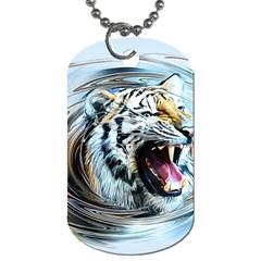 Tiger Animal Art Swirl Decorative Dog Tag (one Side)