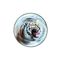 Tiger Animal Art Swirl Decorative Hat Clip Ball Marker (10 Pack)