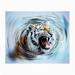Tiger Animal Art Swirl Decorative Small Glasses Cloth