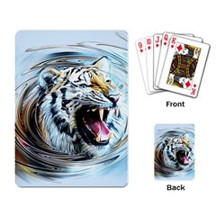 Tiger Animal Art Swirl Decorative Playing Card