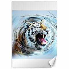 Tiger Animal Art Swirl Decorative Canvas 20  X 30