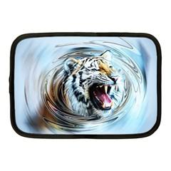 Tiger Animal Art Swirl Decorative Netbook Case (medium)