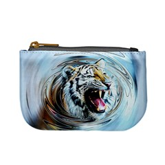 Tiger Animal Art Swirl Decorative Mini Coin Purses