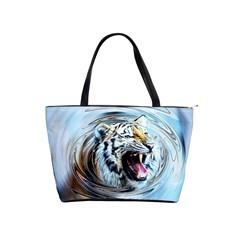 Tiger Animal Art Swirl Decorative Shoulder Handbags