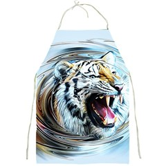 Tiger Animal Art Swirl Decorative Full Print Aprons