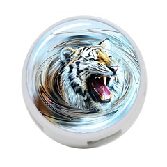 Tiger Animal Art Swirl Decorative 4 Port Usb Hub (two Sides)