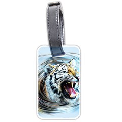 Tiger Animal Art Swirl Decorative Luggage Tags (two Sides)