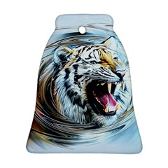 Tiger Animal Art Swirl Decorative Ornament (bell)