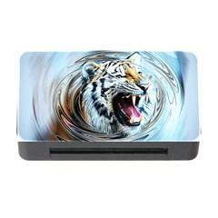 Tiger Animal Art Swirl Decorative Memory Card Reader With Cf