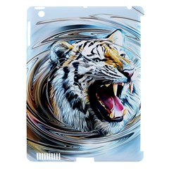 Tiger Animal Art Swirl Decorative Apple Ipad 3/4 Hardshell Case (compatible With Smart Cover) by Nexatart