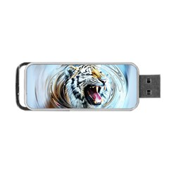 Tiger Animal Art Swirl Decorative Portable Usb Flash (two Sides)