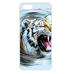 Tiger Animal Art Swirl Decorative Apple Iphone 5 Seamless Case (white)