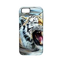 Tiger Animal Art Swirl Decorative Apple Iphone 5 Classic Hardshell Case (pc+silicone)