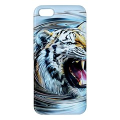 Tiger Animal Art Swirl Decorative Apple Iphone 5 Premium Hardshell Case