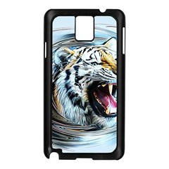 Tiger Animal Art Swirl Decorative Samsung Galaxy Note 3 N9005 Case (black)