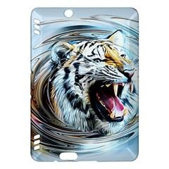 Tiger Animal Art Swirl Decorative Kindle Fire Hdx Hardshell Case