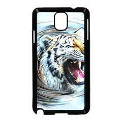 Tiger Animal Art Swirl Decorative Samsung Galaxy Note 3 Neo Hardshell Case (black)