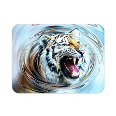 Tiger Animal Art Swirl Decorative Double Sided Flano Blanket (mini)