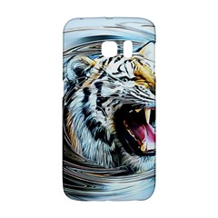 Tiger Animal Art Swirl Decorative Galaxy S6 Edge